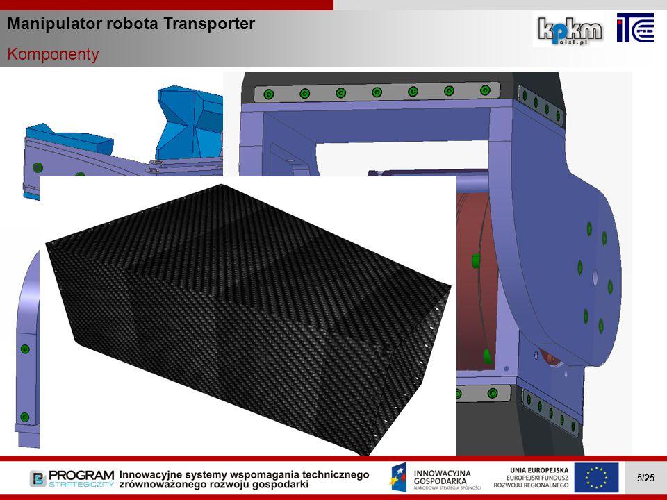 Manipulator robota Transporter Komponenty