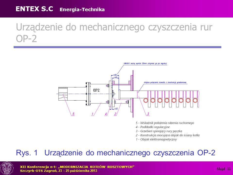 Urządzenie do mechanicznego czyszczenia rur OP-2
