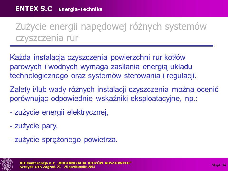 Zużycie energii napędowej różnych systemów czyszczenia rur