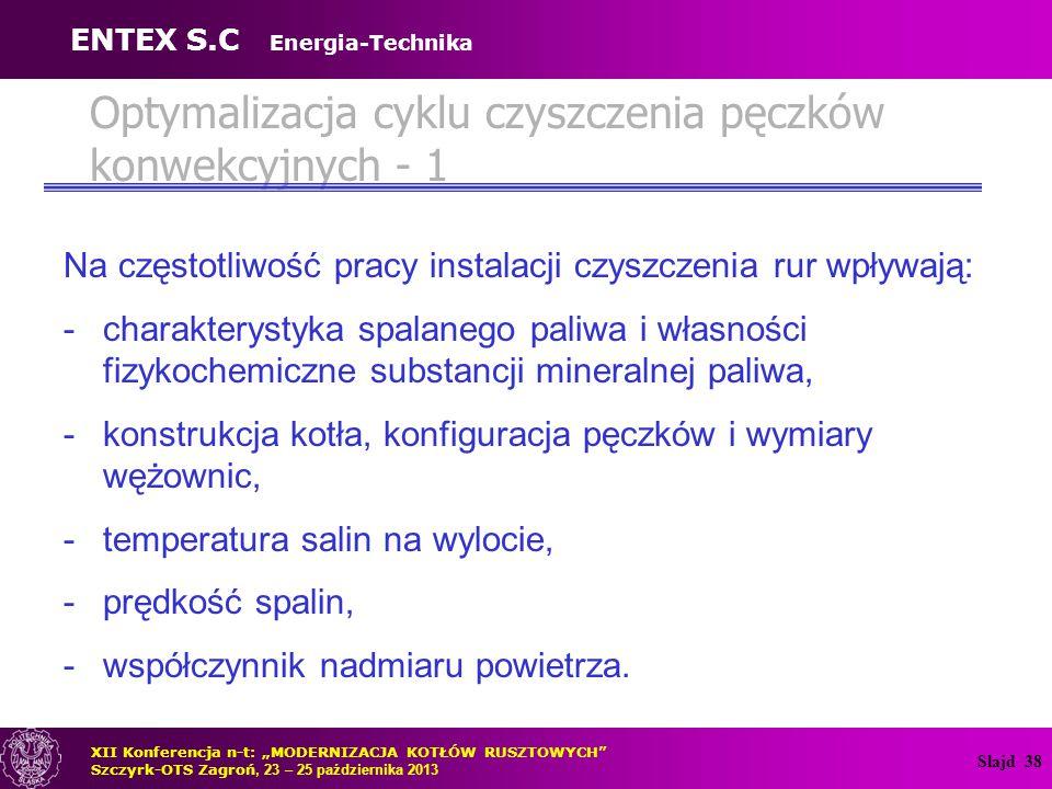 Optymalizacja cyklu czyszczenia pęczków konwekcyjnych - 1