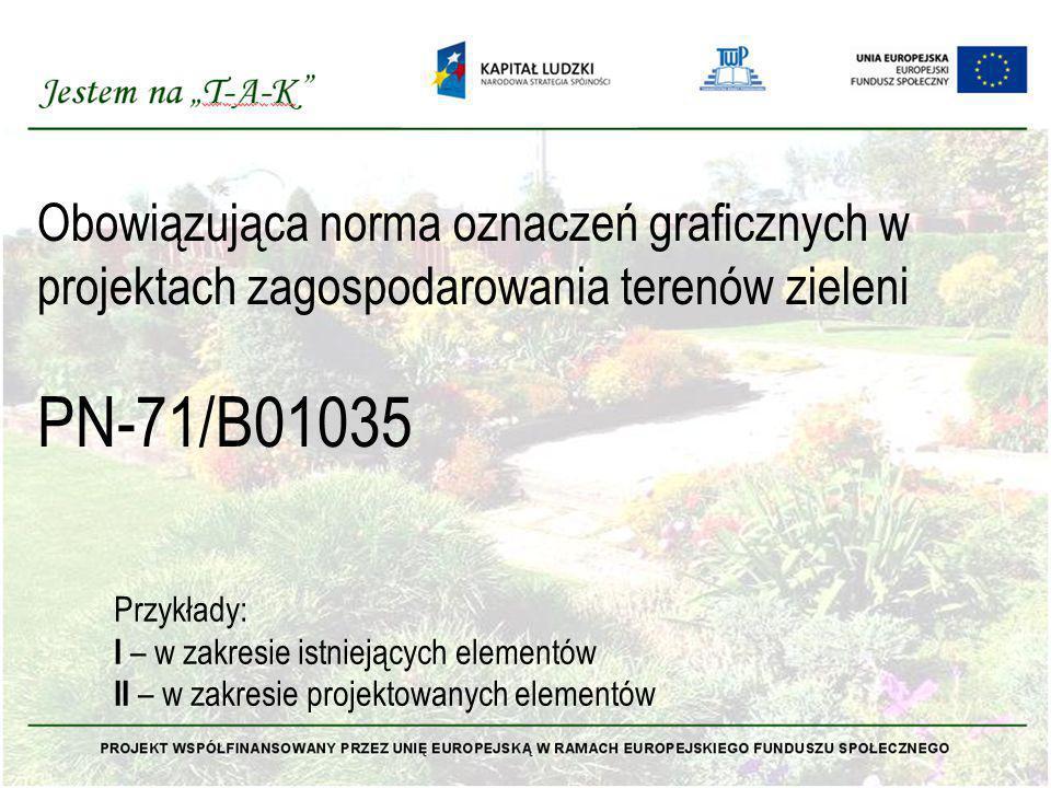 Obowiązująca norma oznaczeń graficznych w projektach zagospodarowania terenów zieleni