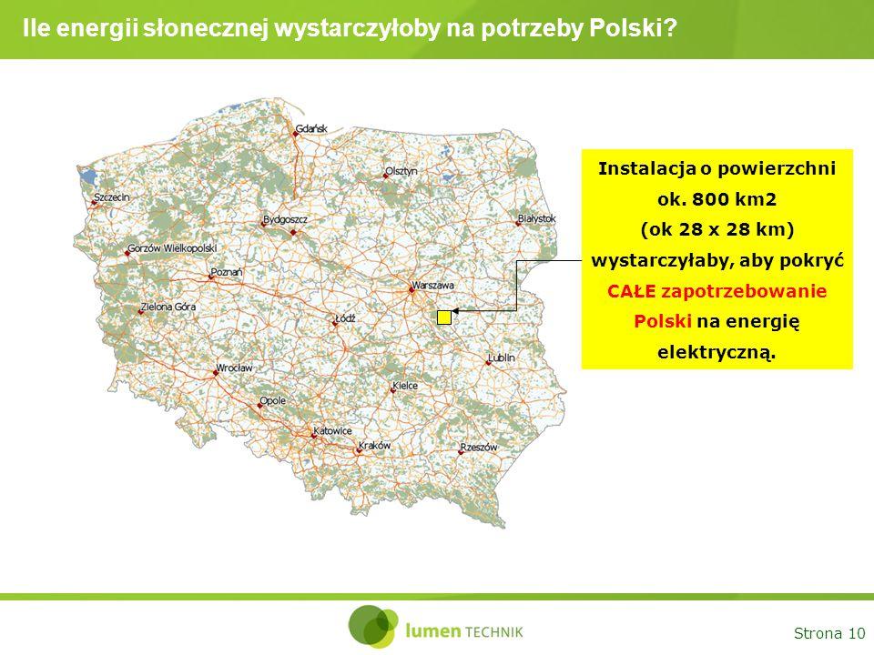 Ile energii słonecznej wystarczyłoby na potrzeby Polski