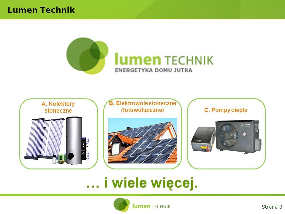 B. Elektrownie słoneczne (fotowoltaiczne)
