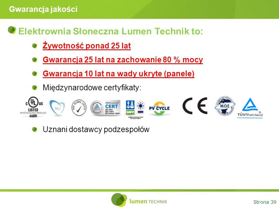 Elektrownia Słoneczna Lumen Technik to: