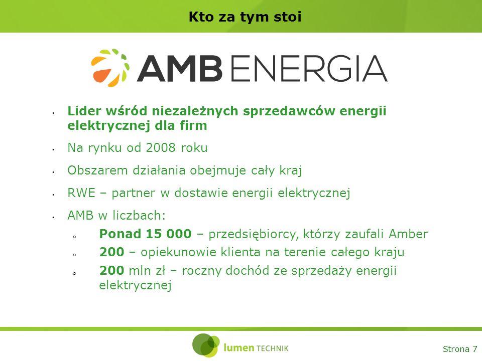 7 Kto za tym stoi. Lider wśród niezależnych sprzedawców energii elektrycznej dla firm. Na rynku od 2008 roku.
