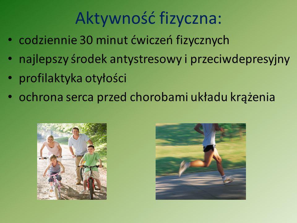 Aktywność fizyczna: codziennie 30 minut ćwiczeń fizycznych