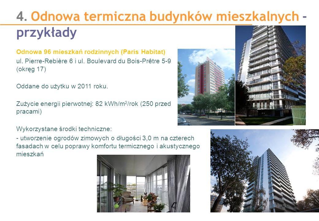 4. Odnowa termiczna budynków mieszkalnych - przykłady