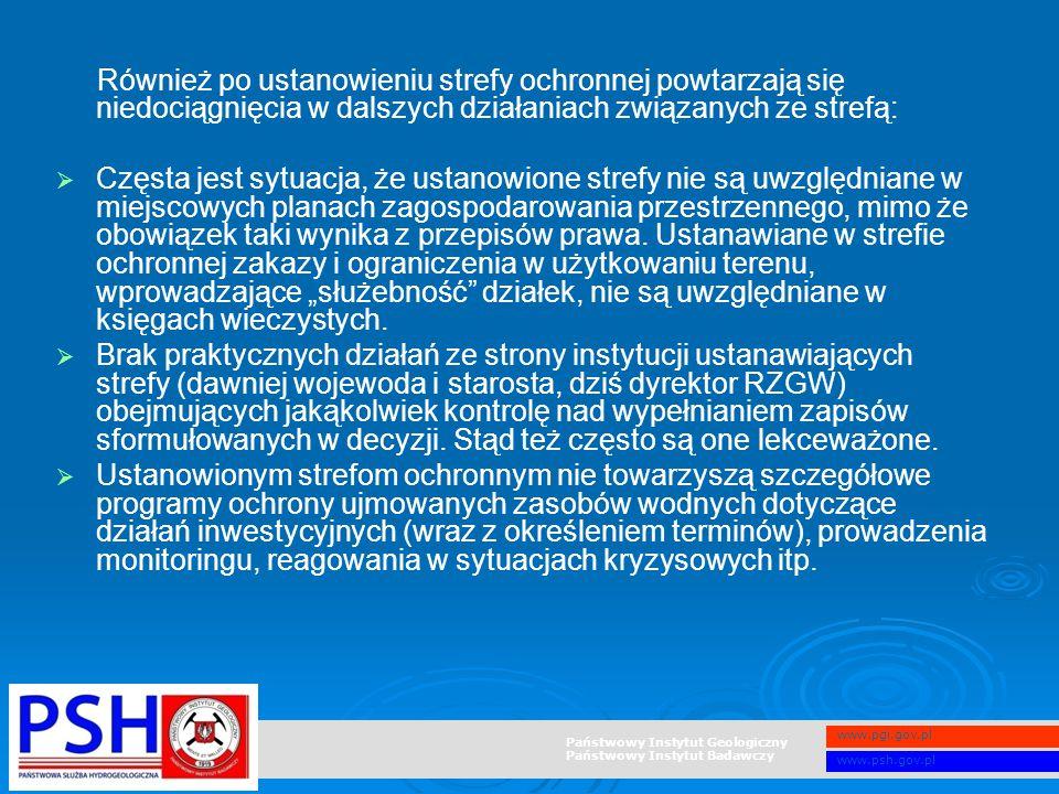 Również po ustanowieniu strefy ochronnej powtarzają się niedociągnięcia w dalszych działaniach związanych ze strefą: