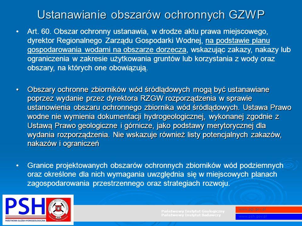 Ustanawianie obszarów ochronnych GZWP