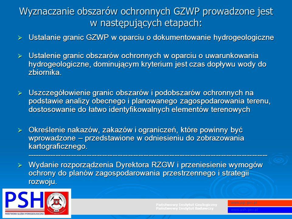 Wyznaczanie obszarów ochronnych GZWP prowadzone jest w następujących etapach: