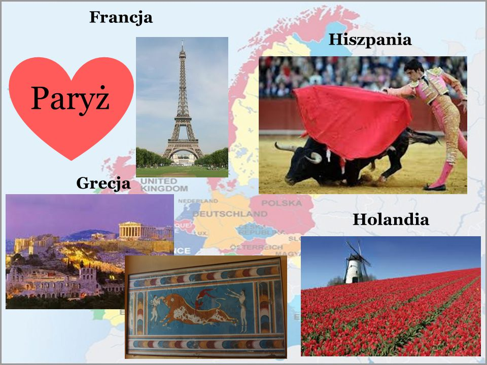 Francja Hiszpania Paryż Grecja Holandia