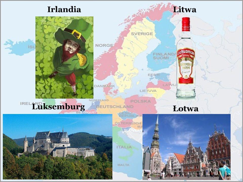Litwa Irlandia Luksemburg Łotwa