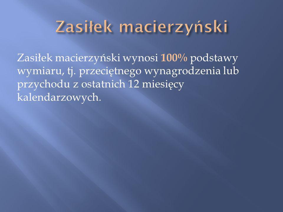 Zasiłek macierzyński