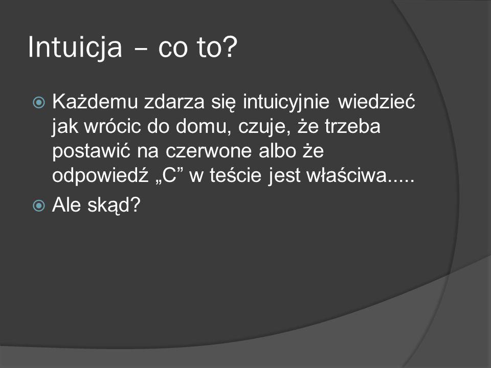 Intuicja – co to