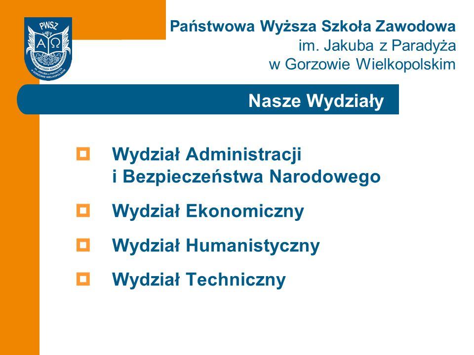 Wydział Administracji i Bezpieczeństwa Narodowego Wydział Ekonomiczny