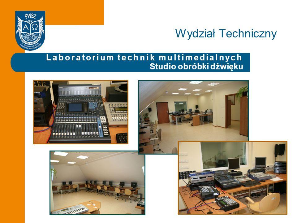 Laboratorium technik multimedialnych Studio obróbki dźwięku