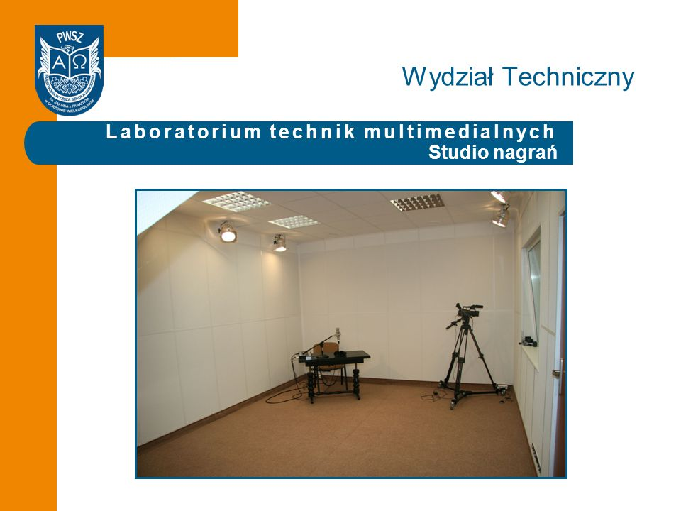 Laboratorium technik multimedialnych Studio nagrań