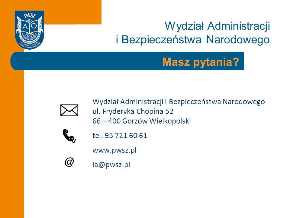 Wydział Administracji i Bezpieczeństwa Narodowego