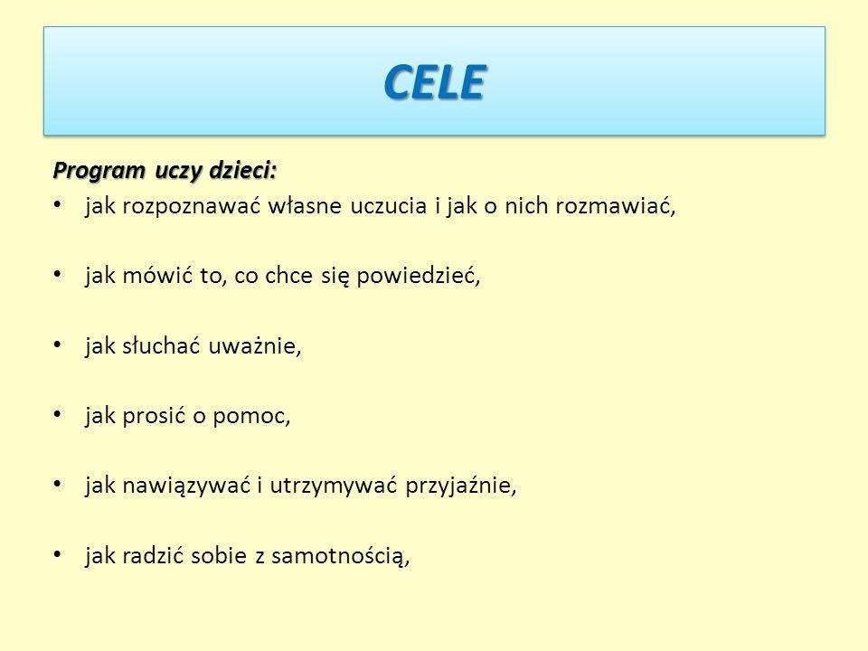 CELE Program uczy dzieci: