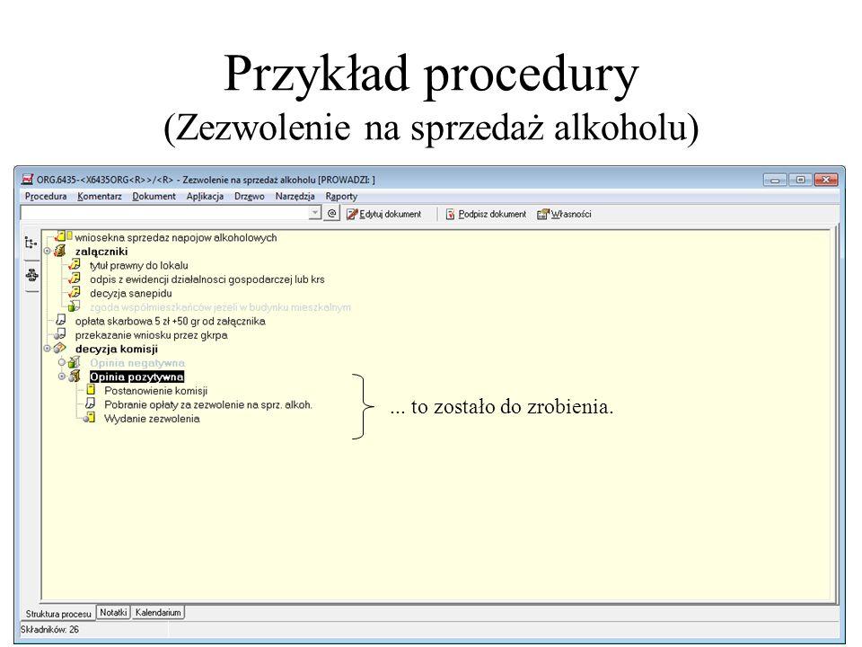 Przykład procedury (Zezwolenie na sprzedaż alkoholu)