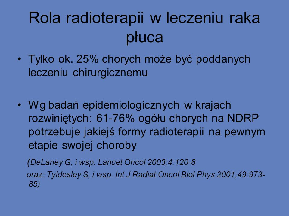 Rola radioterapii w leczeniu raka płuca