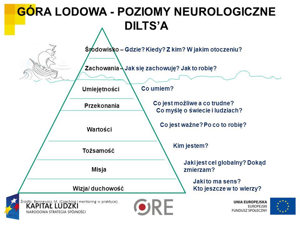 GÓRA LODOWA - POZIOMY NEUROLOGICZNE DILTS'A