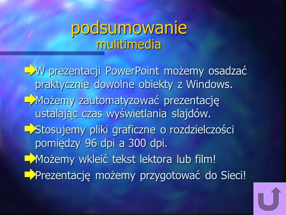 podsumowanie mulitimedia