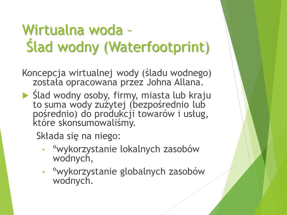 Wirtualna woda – Ślad wodny (Waterfootprint)