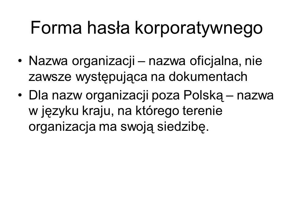 Forma hasła korporatywnego