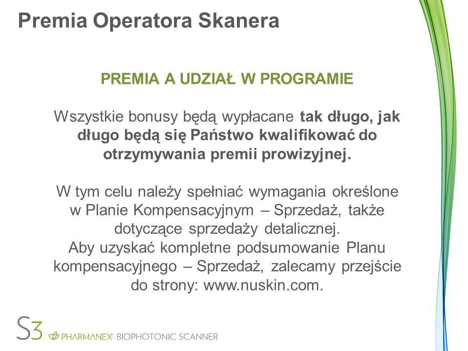 Premia Operatora Skanera