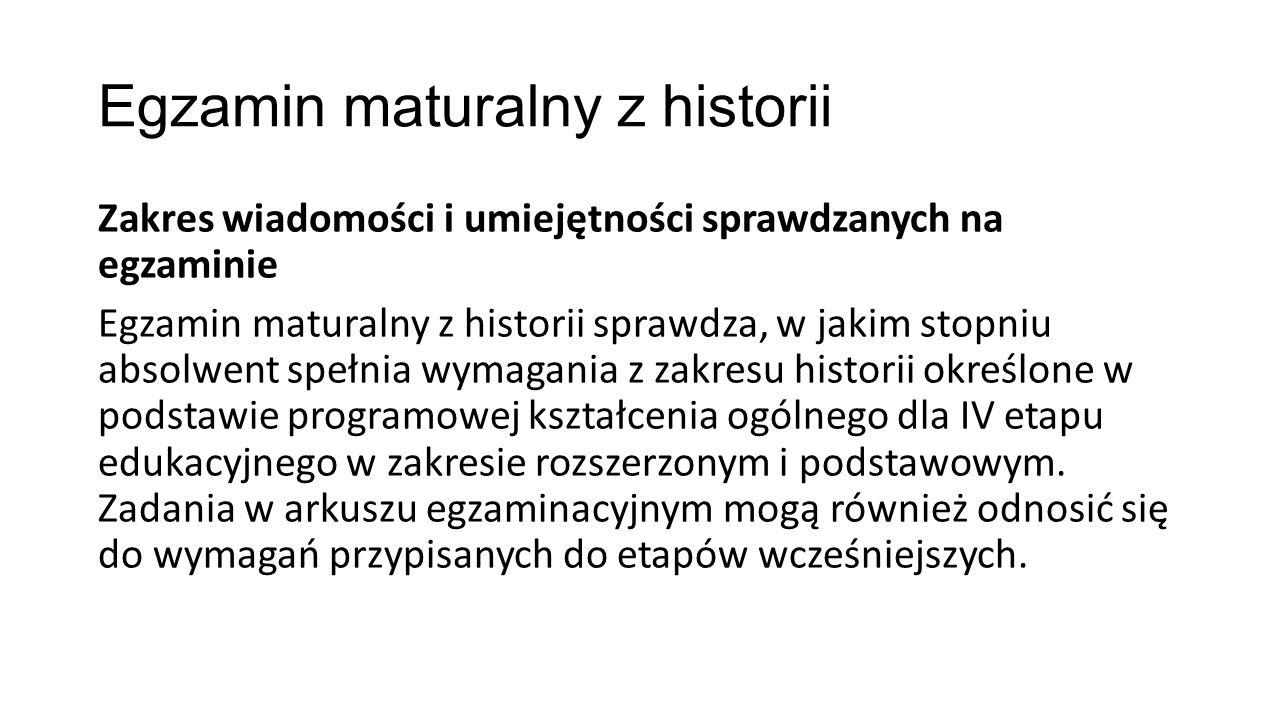 Egzamin maturalny z historii