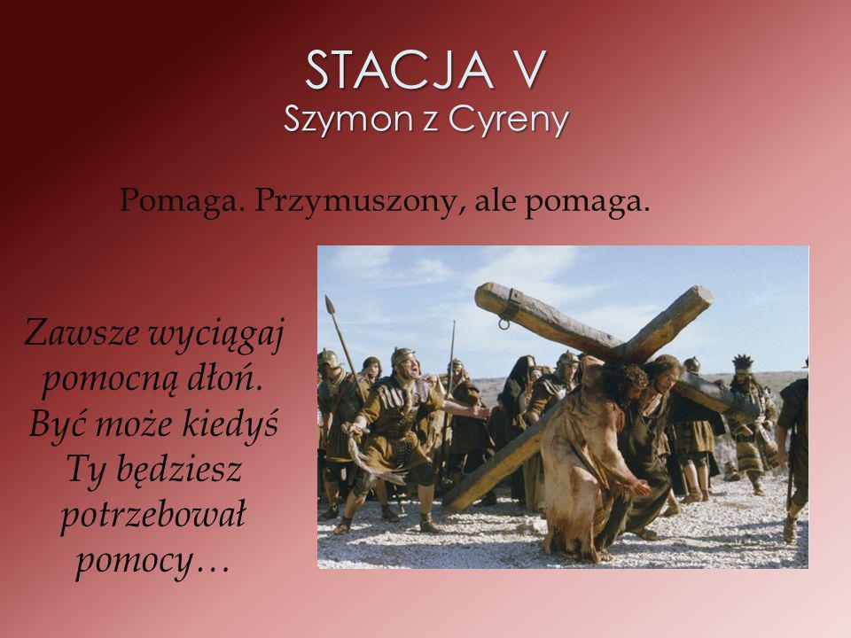 STACJA V Szymon z Cyreny
