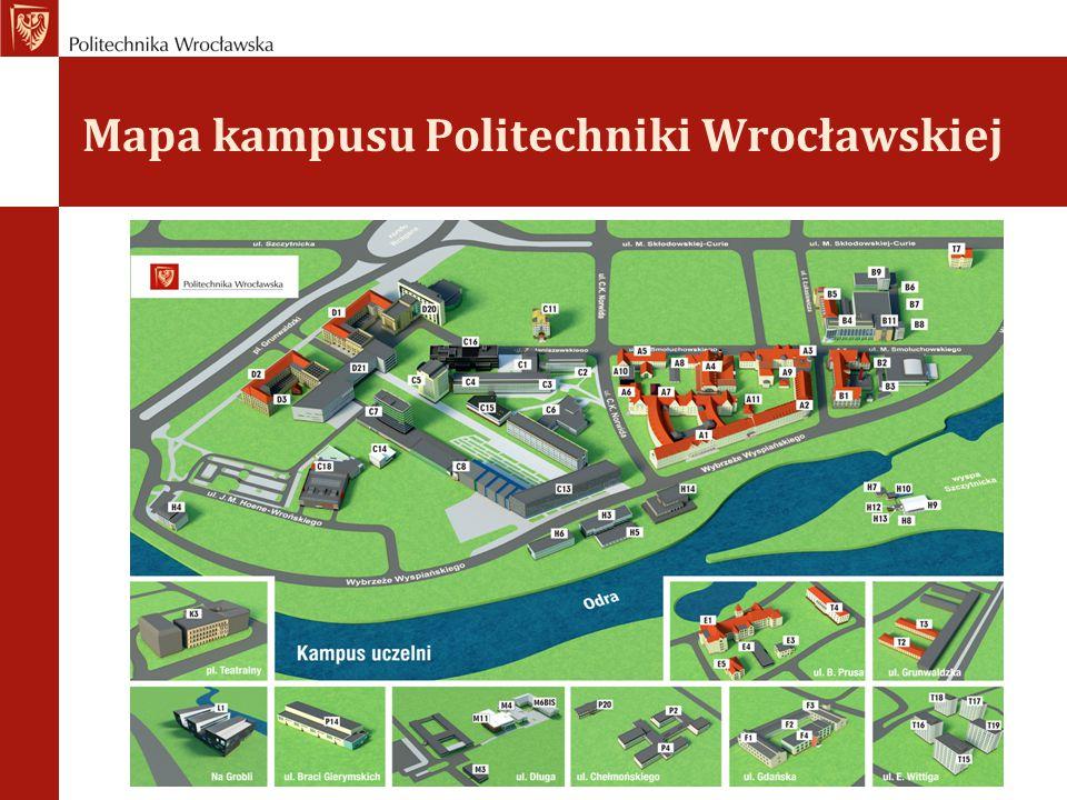 Mapa kampusu Politechniki Wrocławskiej