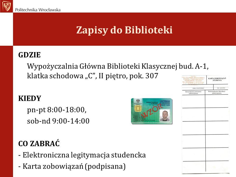 Zapisy do Biblioteki GDZIE