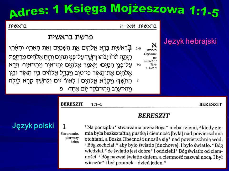 Adres: 1 Księga Mojżeszowa 1:1-5