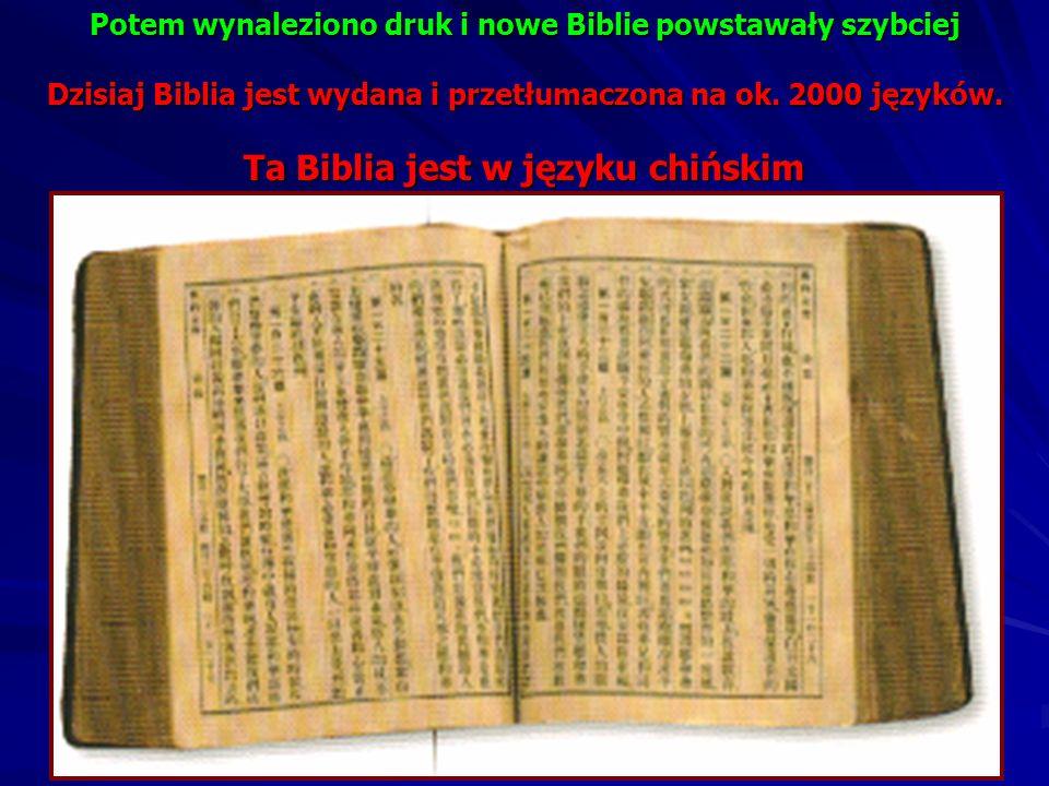 Ta Biblia jest w języku chińskim