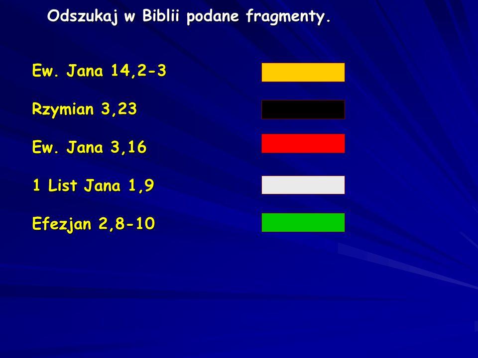 Odszukaj w Biblii podane fragmenty.
