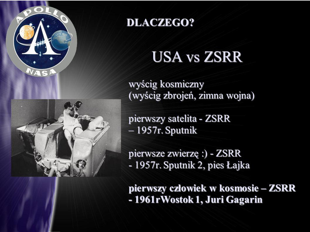 USA vs ZSRR DLACZEGO wyścig kosmiczny (wyścig zbrojeń, zimna wojna)
