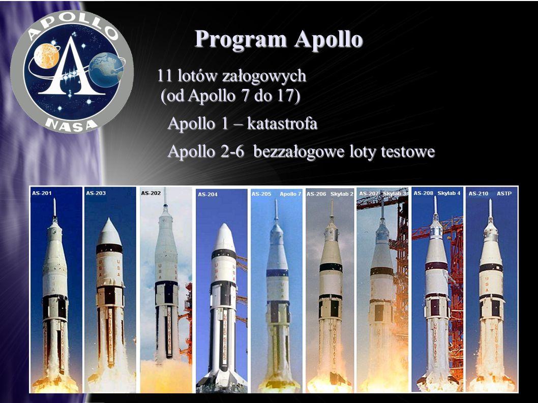 Program Apollo 11 lotów załogowych (od Apollo 7 do 17)