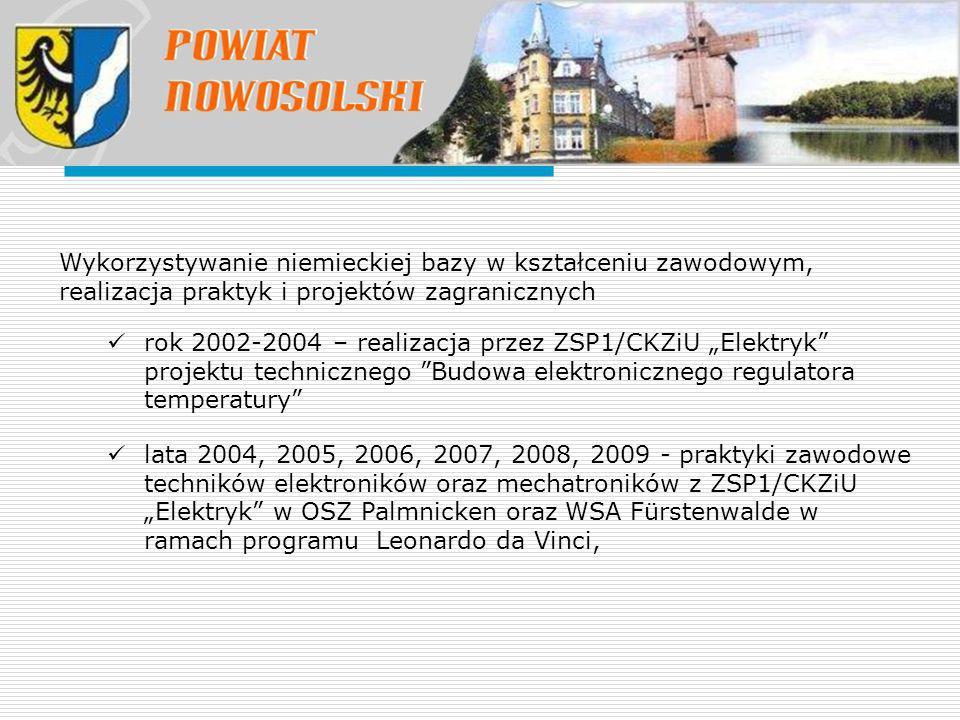 Wykorzystywanie niemieckiej bazy w kształceniu zawodowym, realizacja praktyk i projektów zagranicznych