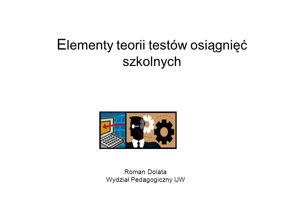 Elementy teorii testów osiągnięć szkolnych