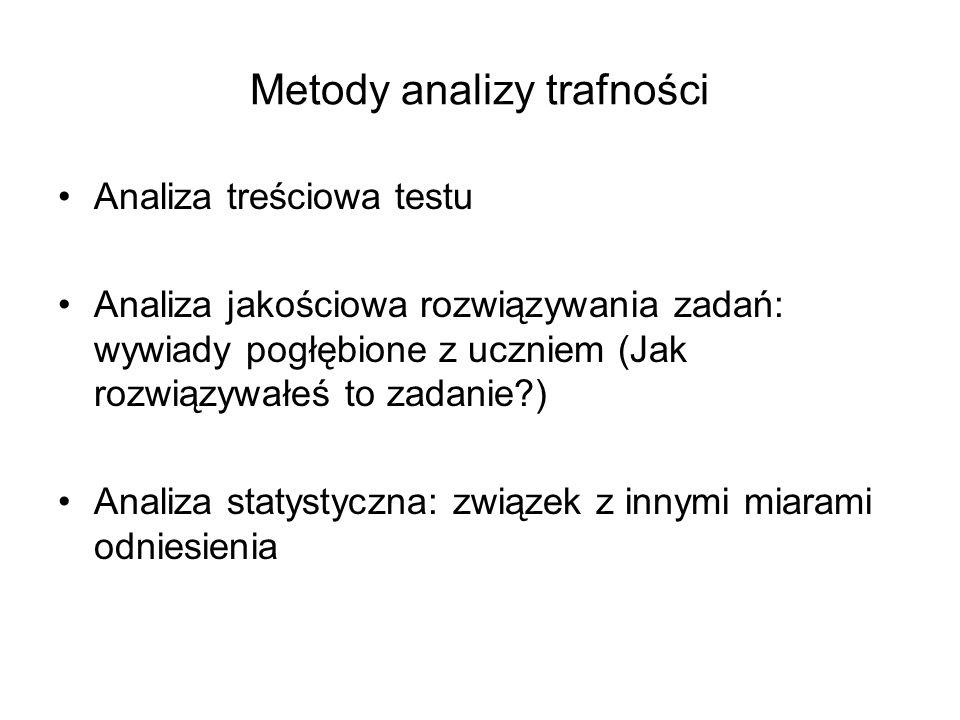 Metody analizy trafności