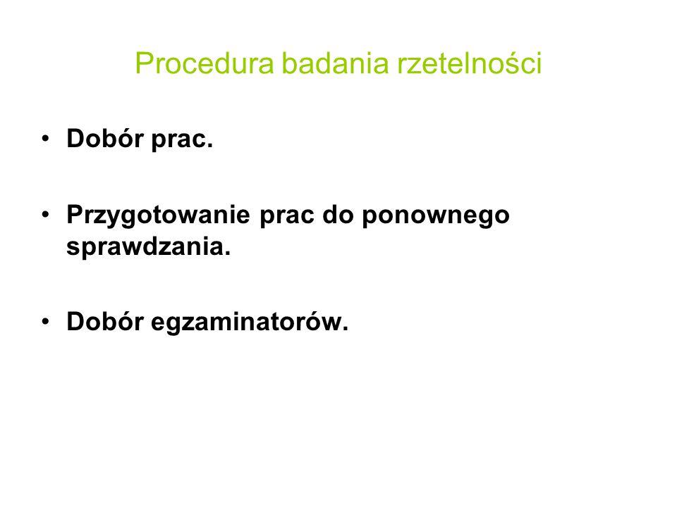 Procedura badania rzetelności
