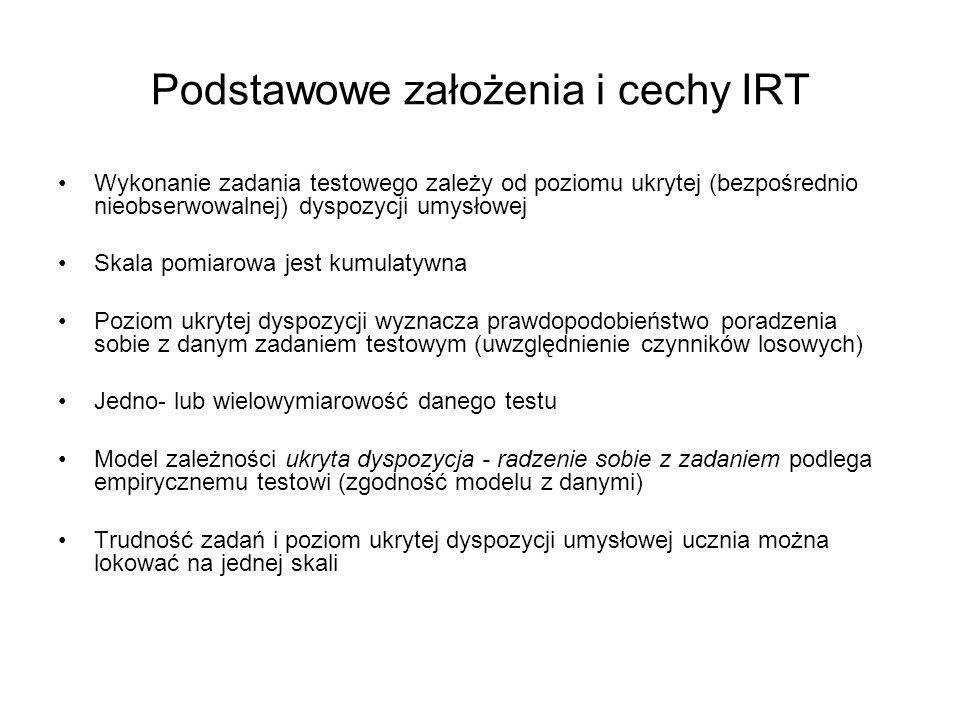 Podstawowe założenia i cechy IRT