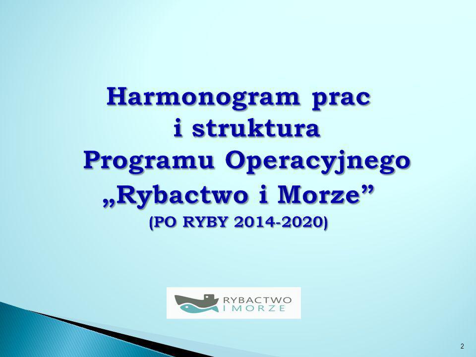 Harmonogram prac i struktura Programu Operacyjnego