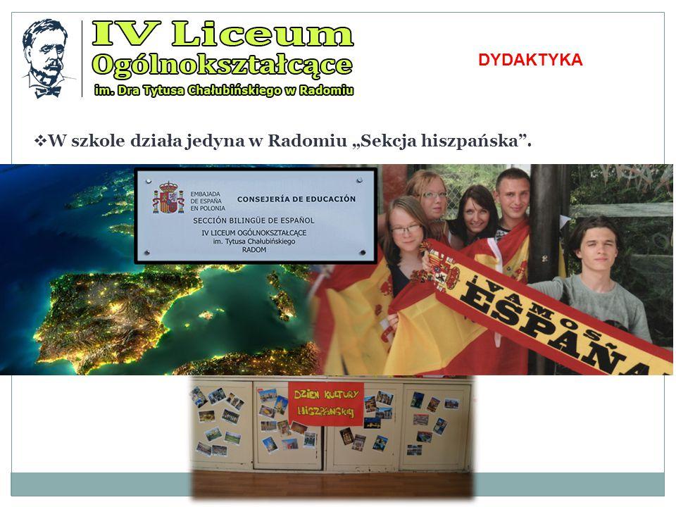 """DYDAKTYKA W szkole działa jedyna w Radomiu """"Sekcja hiszpańska ."""