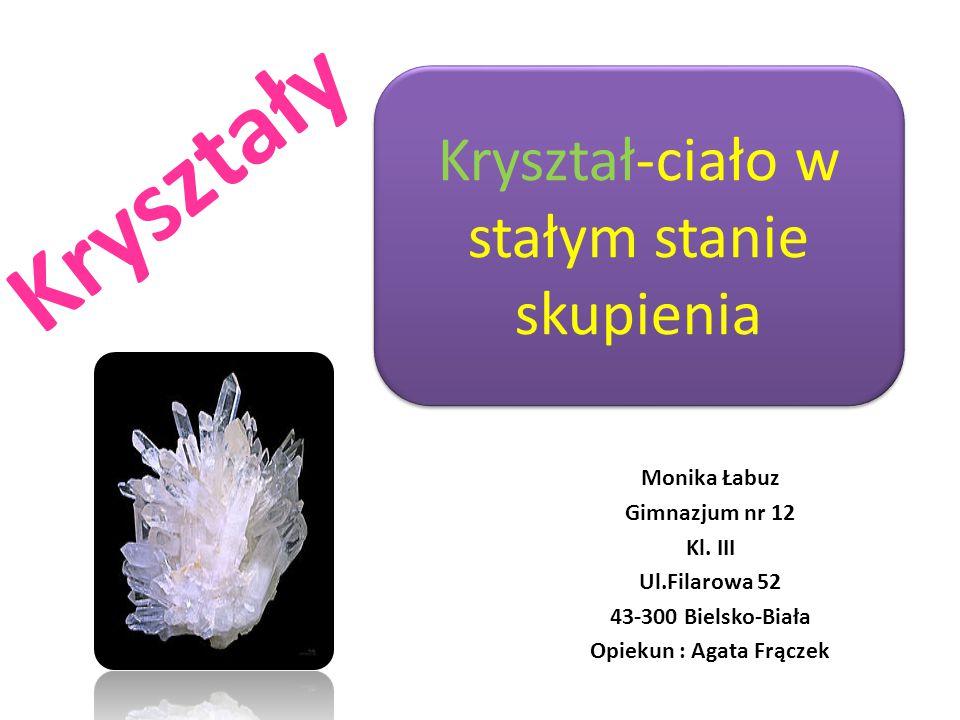Opiekun : Agata Frączek