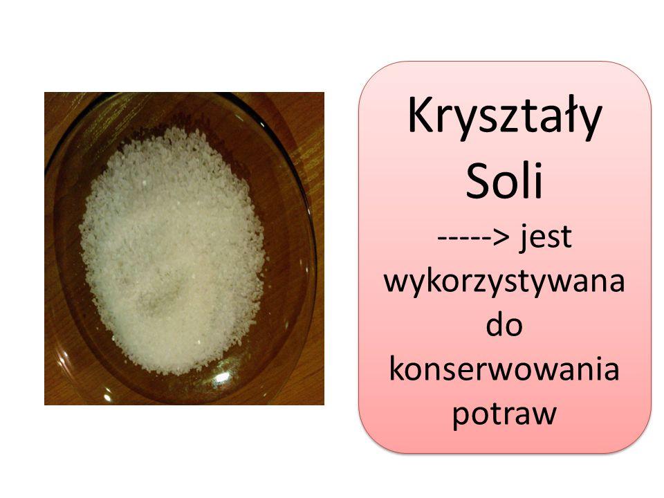 -----> jest wykorzystywana do konserwowania potraw
