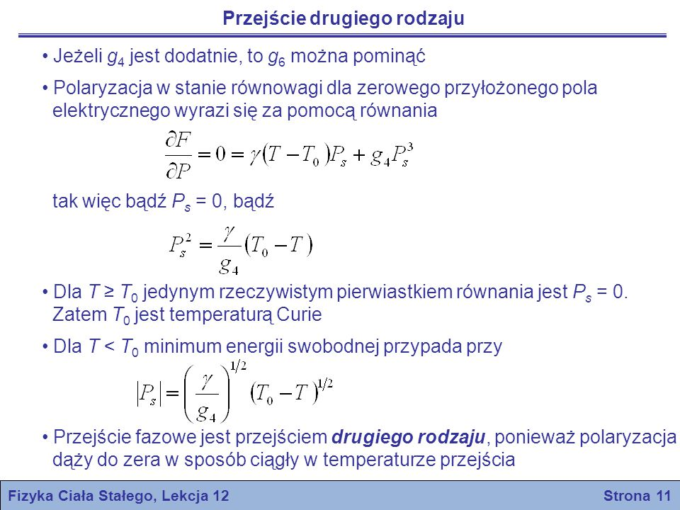 Fizyka Ciała Stałego, Lekcja 12 Strona 11