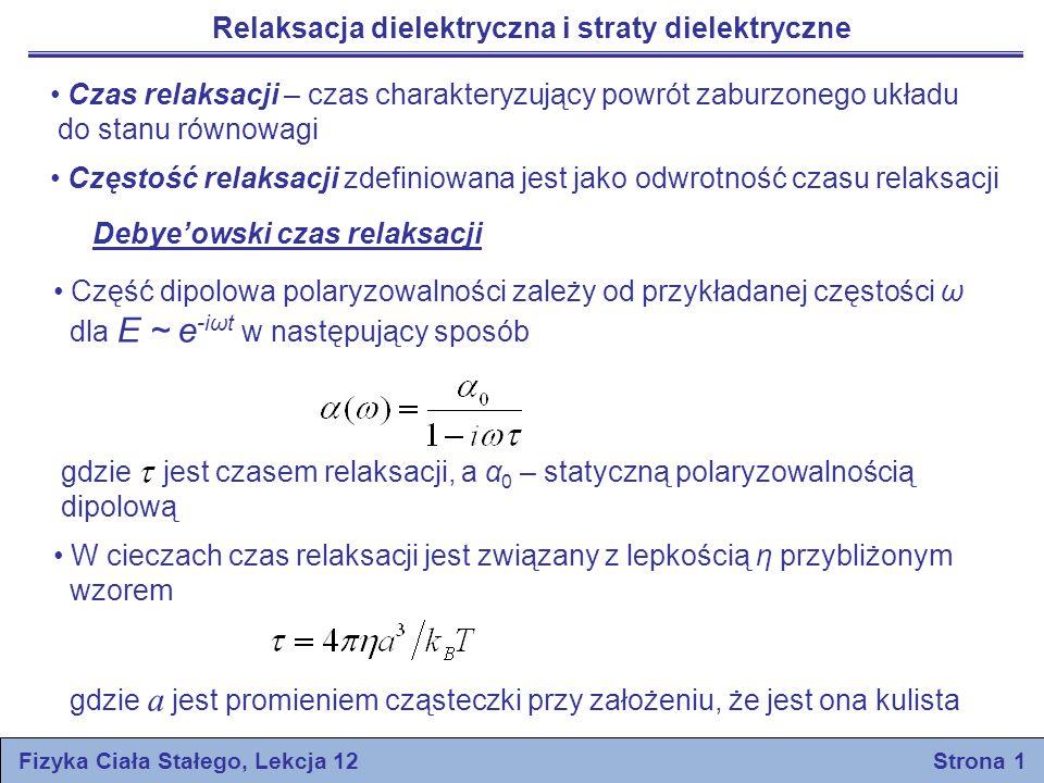 Fizyka Ciała Stałego, Lekcja 12 Strona 1